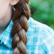 Stock Photo: Natural blonde braided hair