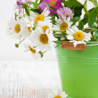 Bucket with wild flowers — Stock Photo #26331205