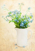 Bunch of forget-me-nots flowers — Stock Photo