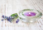 Lavendel kaars — Stockfoto
