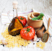 Ingredients for an Italian meal — Stock Photo