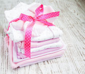 Newborn baby clothes — Stock Photo