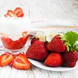 strawberry yoghurt — Stock Photo