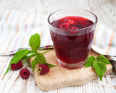 Summer Raspberry drink — Stock Photo