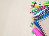 Office or school supplies — Stock Photo