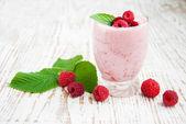 Raspberry Yogurt — Stock Photo
