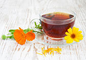 Čaj s měsíček — Stock fotografie