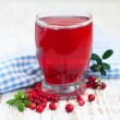 Stock Photo: Fruit cranberries drink