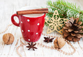 Weihnachts-cappuccino — Stockfoto
