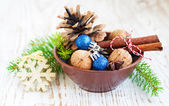 Bowl of Ornaments — Stock Photo