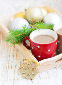 Christmas cappuccino — Stock Photo
