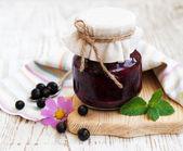 Black currants jam — Stock Photo