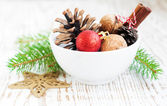 Bowl of Ornaments — Stockfoto
