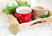 Kerstmis cappuccino — Stockfoto