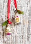 复古圣诞节装饰品 — 图库照片
