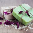 Natural handmade Herbal Soap — Stock Photo