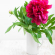 Beautiful bouquet of pink peony  — Stock Photo