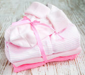 Newborn baby clothes — 图库照片
