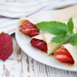 Stock Photo: Strawberry pancakes