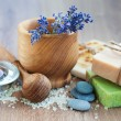 Spa set with lavender — Stock Photo