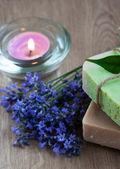 Natuurlijke kruiden zeep — Stockfoto