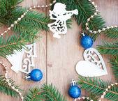 Marco de árbol de navidad — Foto de Stock