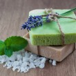 Natural Herbal Soap — Stock Photo