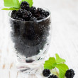 Glass of Blackberries — Stock Photo