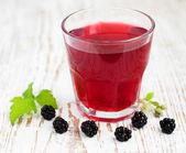 Summer blackberry drink — Stock Photo