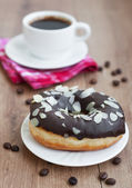 Coffee and Donut — Stock Photo