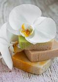 Naturalne mydło ziołowe — Zdjęcie stockowe