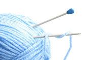 Yarn and needles — Stock Photo