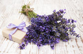 Lavender and soap with natural ingredients — Stock Photo