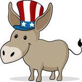 Afbeelding voor donkey dragen van een hoed ooms sam — Stockfoto