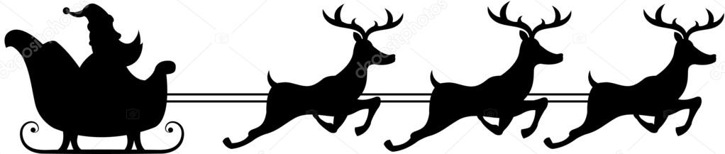 Digitale afbeelding van een silhouet van een santa claus ...