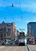 City tram Amsterdam — 图库照片