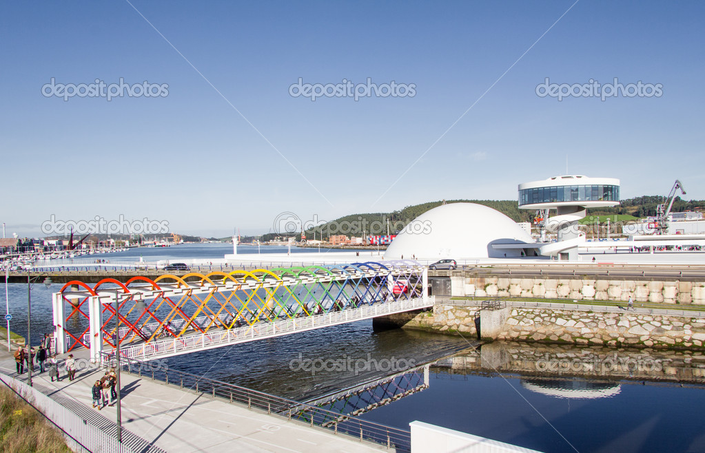 View of Niemeyer Center building, in Aviles, Spain, on December 09, 2012. The cultural center was designed by Brazilian architect Oscar Niemeyer, and was his only work in Spain — Stock Photo #16959657
