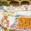 Detail of colorful mosaic in a bench of park Guell, designed by  — Stock Photo #26376061
