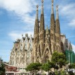 The Sagrada Familia cathedral in Barcelona, Spain — Stock Photo