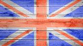 Houtstructuur achtergrond met kleuren van de vlag van Groot-Brittannië — Stockfoto