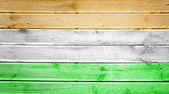 Wood texture background with colors of the flag of India — Stock Photo