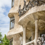 Architecture detail of Casa Mila, better known as La Pedrera, in — Stock Photo #28695491