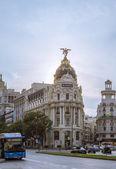 Metrópolis en gran vía, la calle en madrid — Foto de Stock