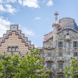 Stock Photo: Casa Batllo and Amatller, in Barcelona, Spain