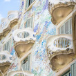 Modernist Casa Batllo facade, in Barcelona, Spain — Stock Photo
