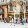 Stock Photo: Modernist facade of philately shop, in Barcelona