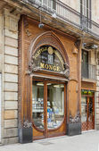 Modernist facade of philately shop, in Barcelona — Stock Photo