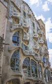 Modernist Casa Batllo facade, in Barcelona, Spain — Stock Photo