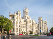 Palace of communications in Cibeles square, Madrid — Stock Photo