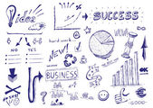 Hand drawn vector illustration: Business success — Stock Photo